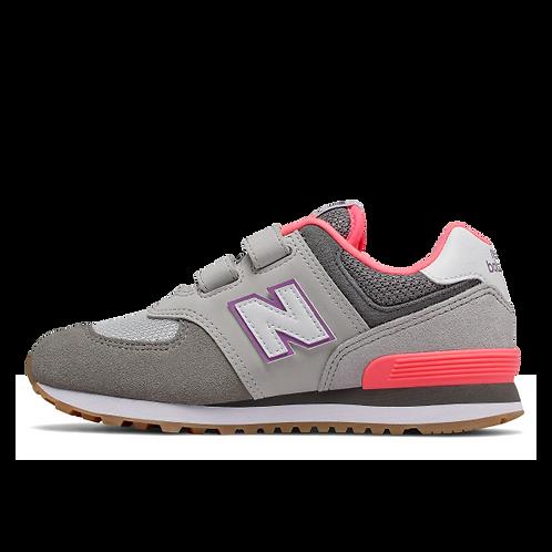 New Balance Sneaker 574 - grau/neon orange
