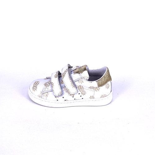 Clic! Sneaker Ananas weiß/gold