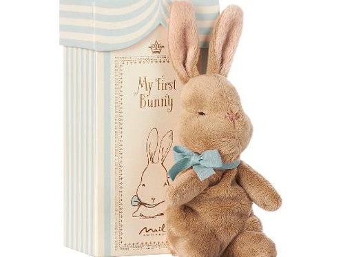 MAILEG - My First Bunny in Box - blaues Bändchen