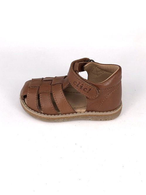 Clic! Sandale geflochten - mittelbraun