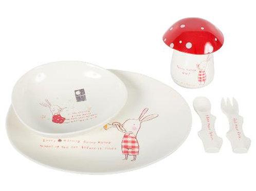 Maileg - Bunny Honey Melamine Set für 2