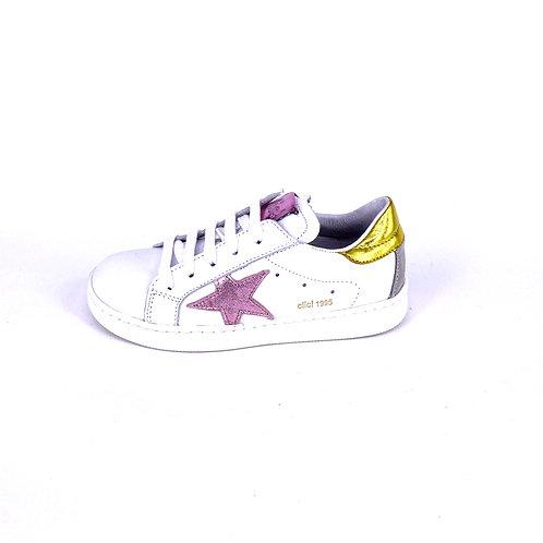 Clic Sneaker weiß mit pinkem Stern