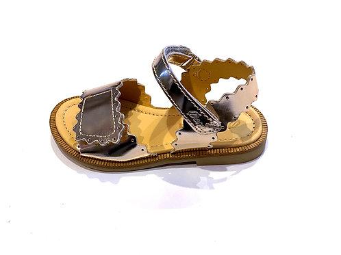 Ocra - Sandale Lackleder platinum