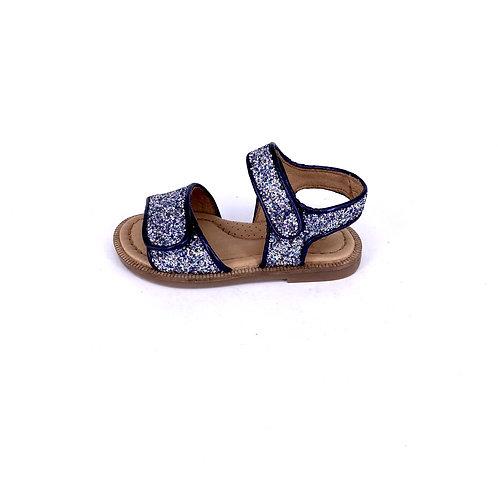 Clic! - Sandale mit Glitzer - Navy/Silber