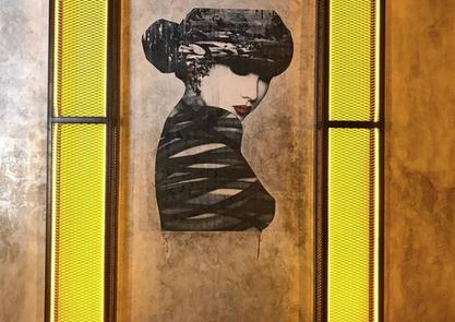Stylová malba v prostorách módní firmy