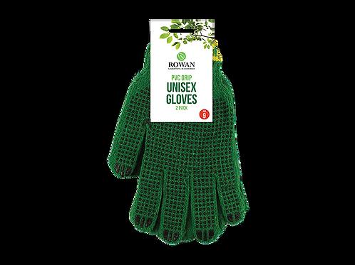 Unisex PVC Grip Gardening Gloves