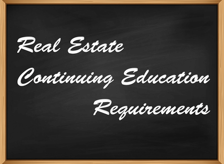 Requirements for Real Estate Continuing Education