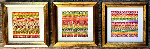 embroidery trio in gold frames.jpg
