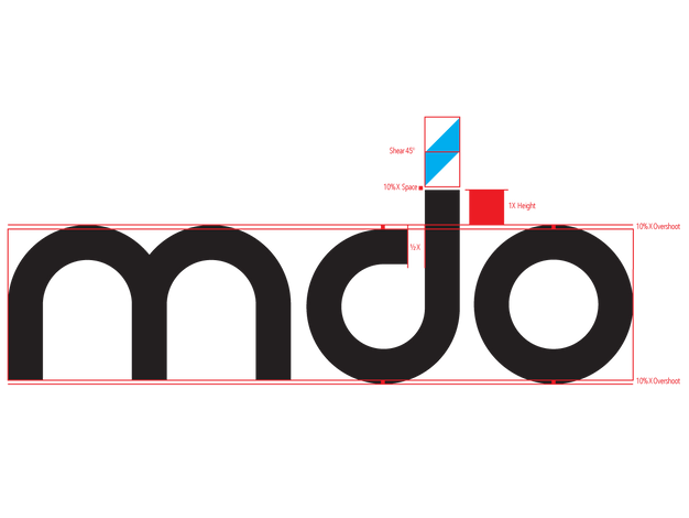 MDO wordmark logotype scaffold