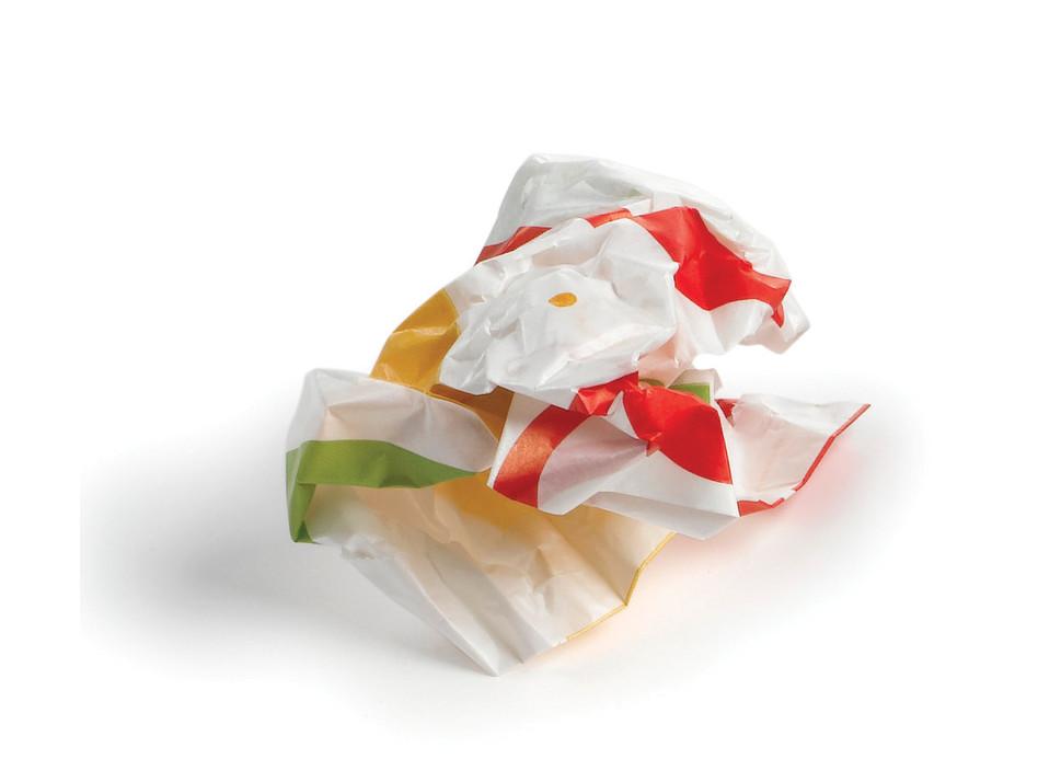 Crumpled bag