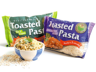 Toasted pasta packages