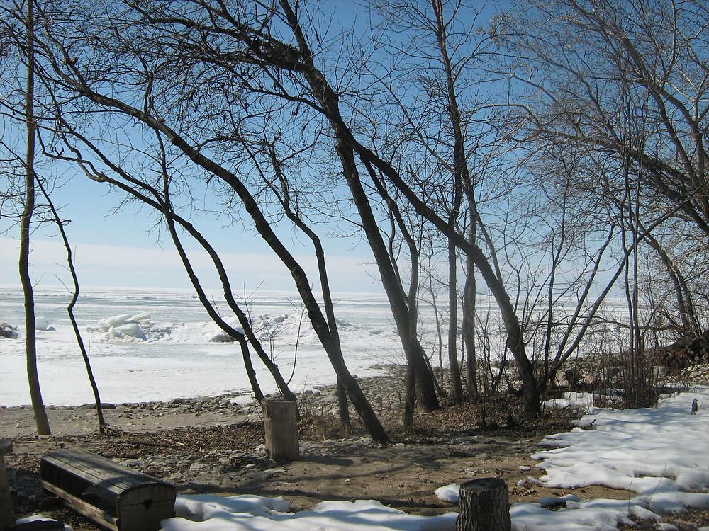 La rive du lac Manitoba, au village métisse de Saint-Laurent