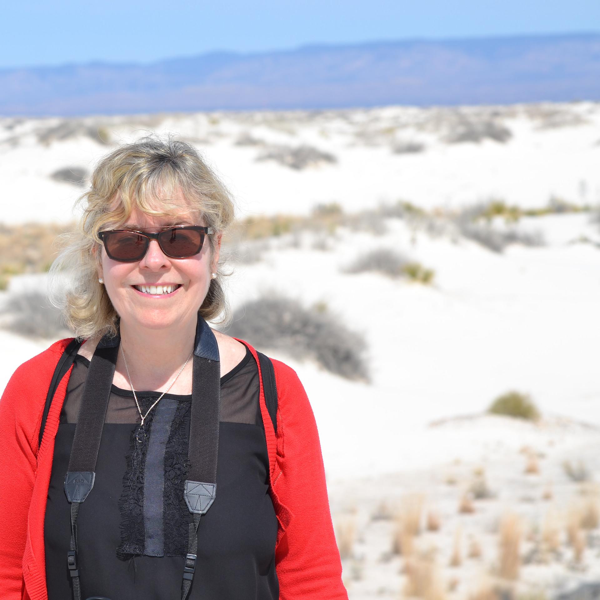 Suzanne à White Sands