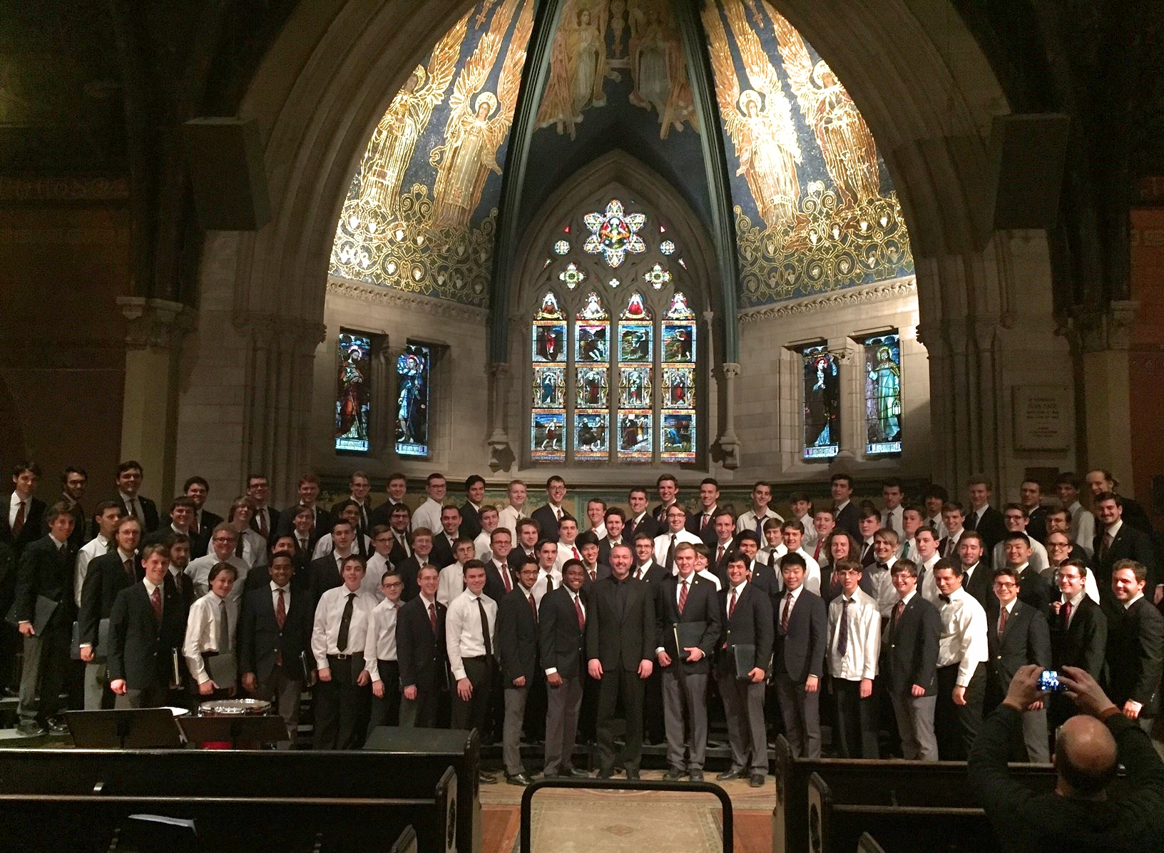 Niall Crowley Conductor with the Cornell University Glee Club