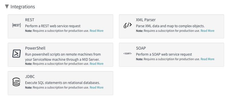 ServiceNow IntegrationHub action steps example