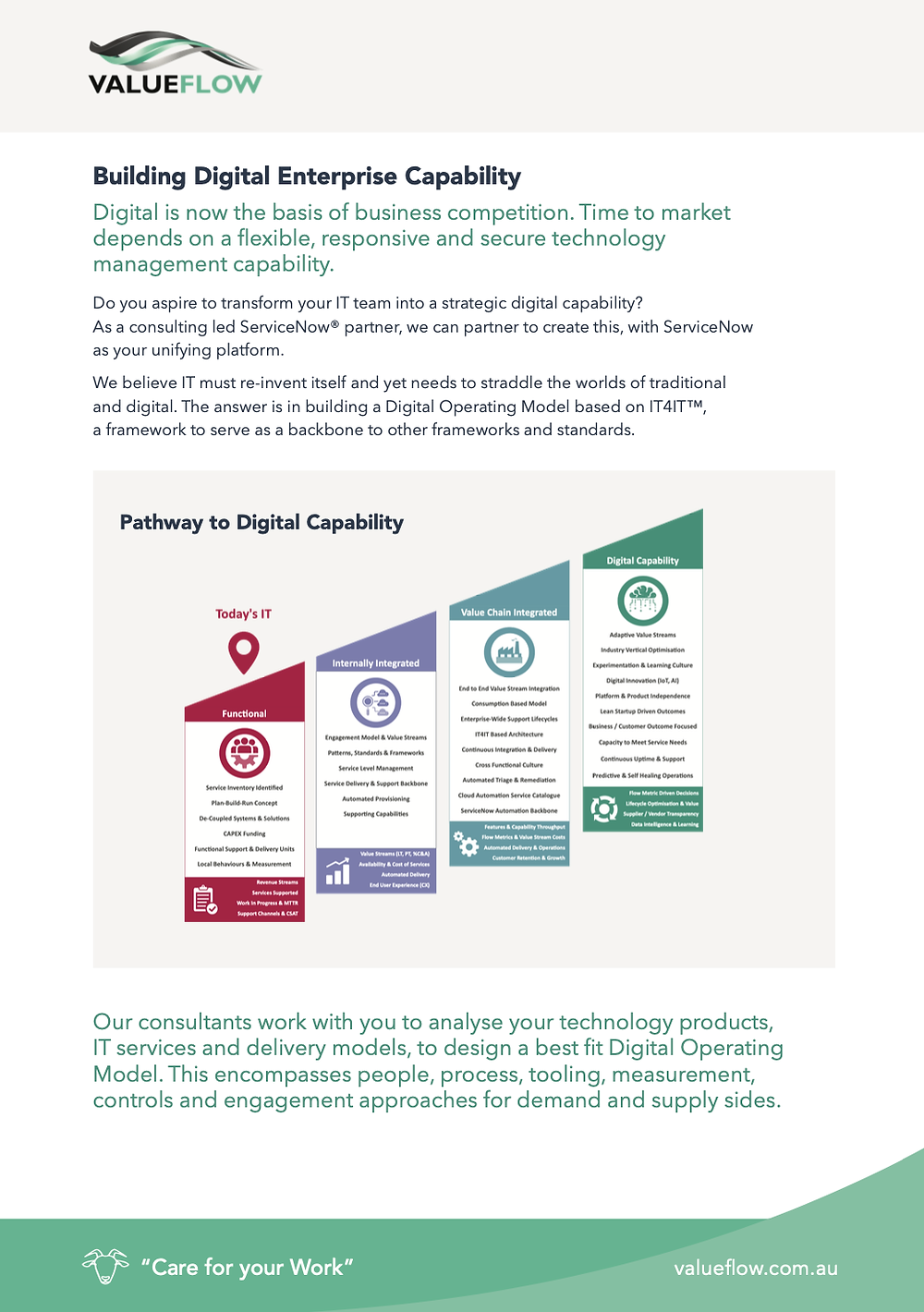 Building digital enterprise capability brochure screenshot