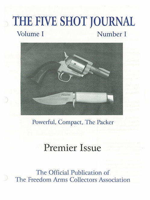Volume 1 - Number 1     Premier Issue