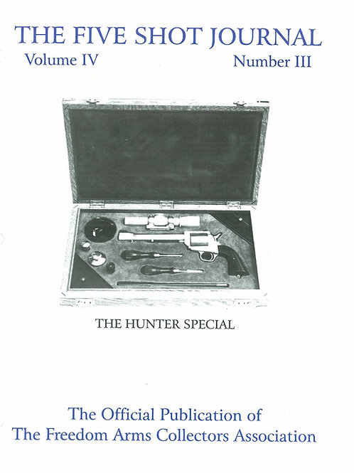 Volume 4 - Number 3    The Hunters Special