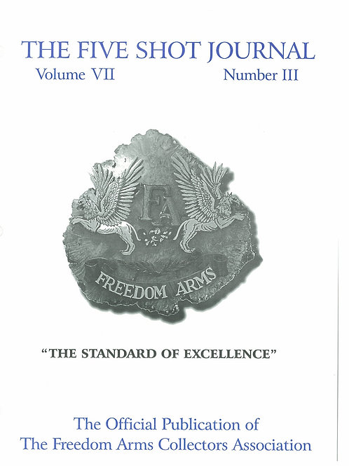 Volume 6 - Number 3       The Standard of Excellence
