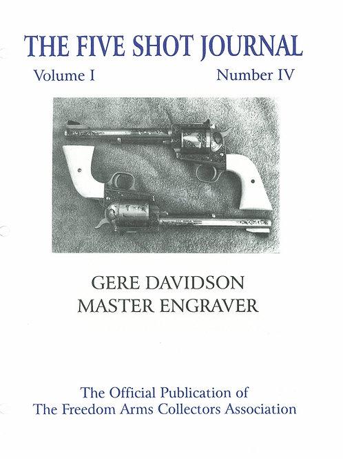 Volume 1 - Number 4     Gere Davidson    Master Engraver