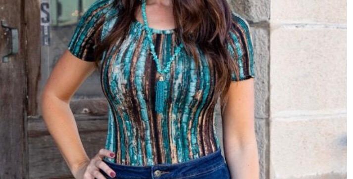 Marble Turquoise Bodysuit