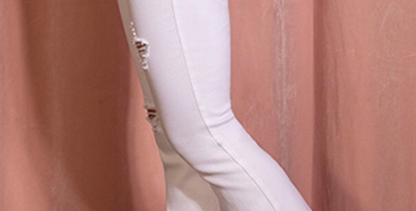 White Fire Flare Jeans