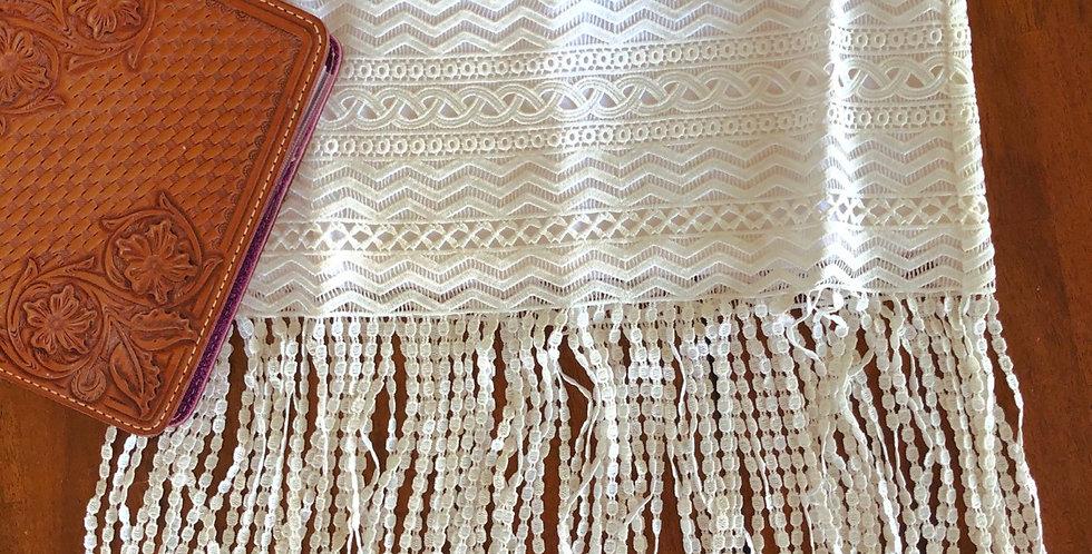 Monroe Crochet Fringe Skirt