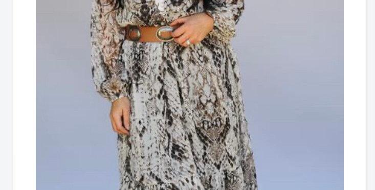 Desert Snake Print Dress