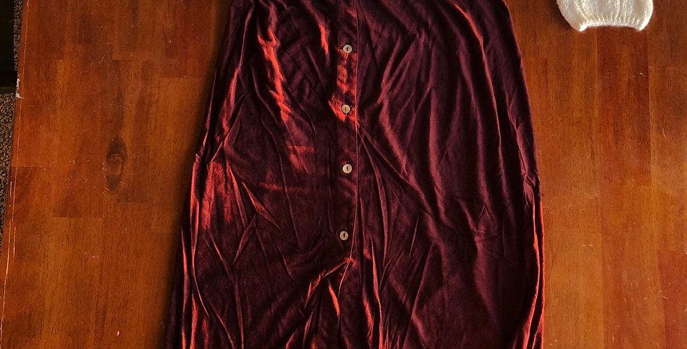 Autumn's Maroon Suede Skirt