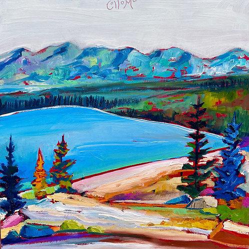 Donner Lake Framed