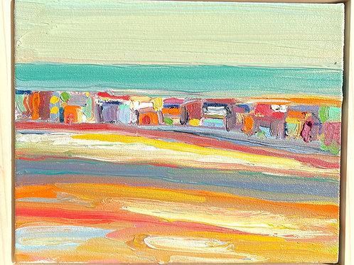 Beach Town Framed