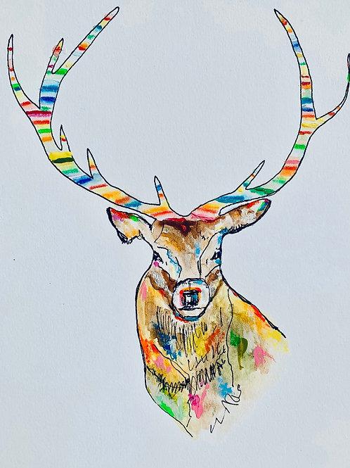 Framed House Reindeer