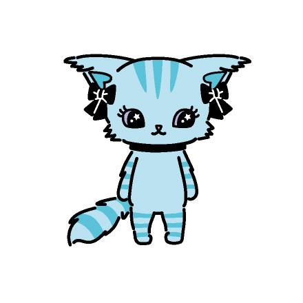 Chelsea(チェルシー)  メインボーカル  アクアブルーのシマシマ猫。  いつも眠そうにしている。  透明感のある ウィスパーボイスの持ち主。