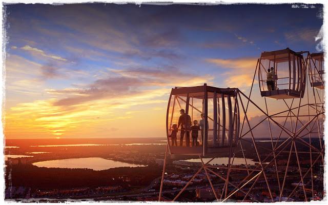 Roda Gigante de Orlando oferece uma visão maravilhosa da cidade