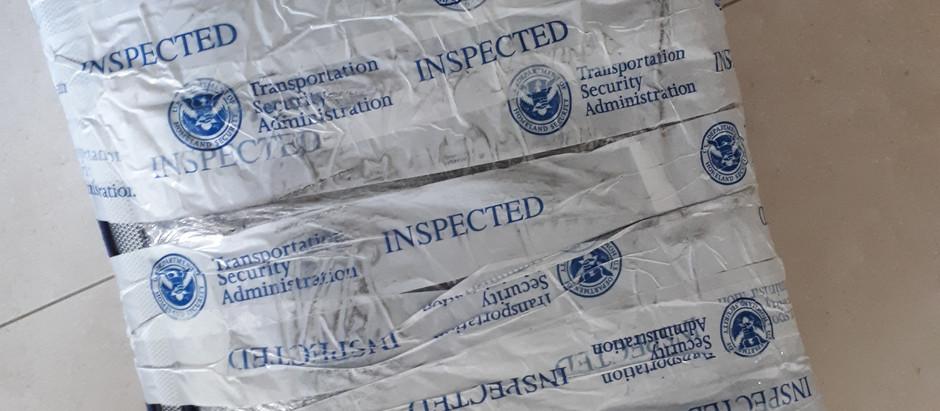 Bagagem revistada pela TSA