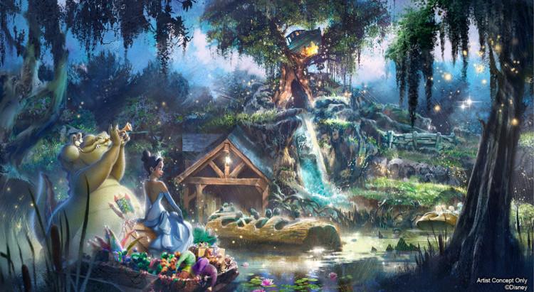 Splash Mountain será repaginada com o tema A Princesa e o Sapo