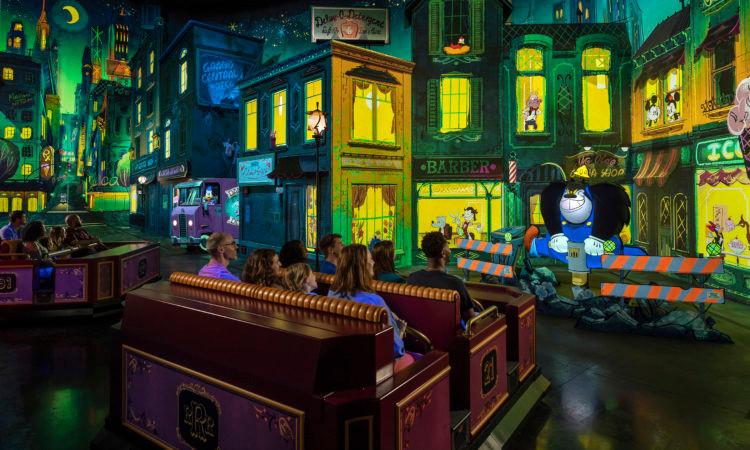 Embarque em um desenho animado no Mickey & Minnie's Runaway Railway