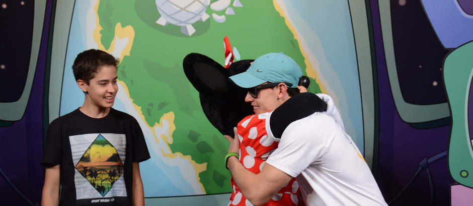 A experiência de encontrar personagens da Disney