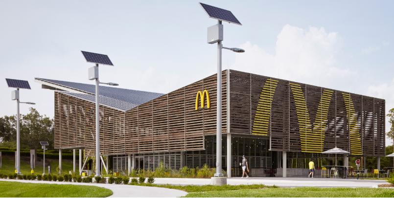 Maior Mc Donald's do mundo em Orlando é modelo para inovação sustentável