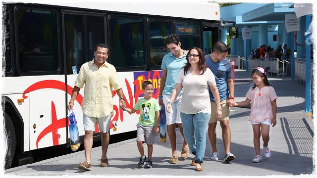 Transportes gratuitos no complexo da Disney