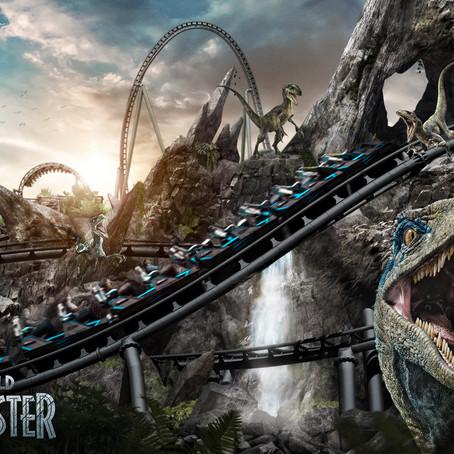 Universal revela montanha-russa com temática do Jurassic World