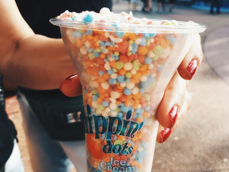 O delicioso Dippin' Dots Ice Cream