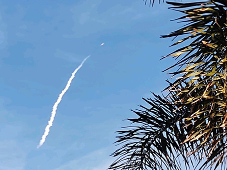Only on the Space Coast...Sunny Skies, SpaceX launches, and Aerodyne!