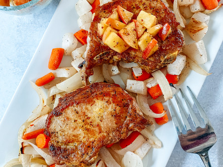 Sheet-Pan Curried Pork with Root Vegetables