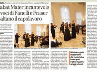 STABAT MATER - INCANTEVOLE LE VOCI DI FANELLI E FRASER ESALTANO IL CAPOLAVORO