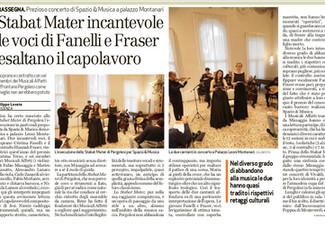 Stabat Mater incantevole le voci di Fanelli e Fraser esaltano il capolavoro