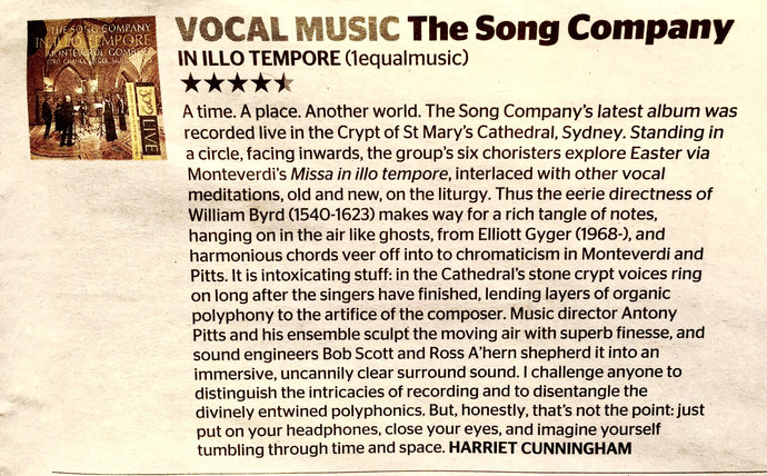 SONG COMPANY CD REVIEW