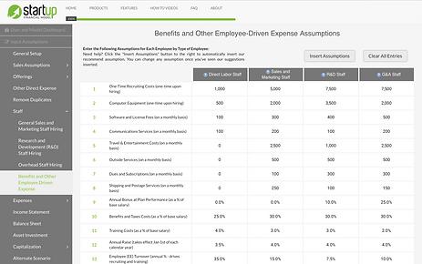 Startup_Financial_Model_Employee_Driven_