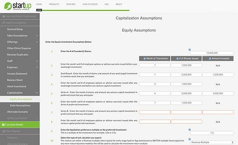 Startup_Financial_Model_Venture_Capital_