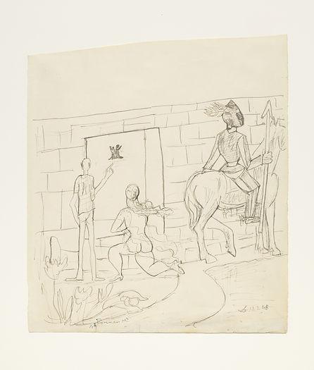 Max Beckmann - Romance, 1948